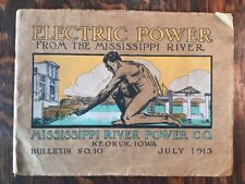 Vintage Electric Power from the Mississippi River Power Co 1913 Keokuk Iowa Book