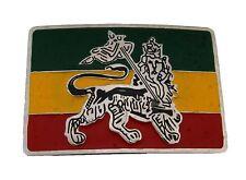 Rastafarian Lion Judah Flag Belt Buckle Reggae Ganja African Fashion Metal New