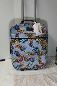 Jessica Simpson Weekender Rolling Carry-On Luggage Travel Bag Pineapple NWT