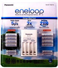 Panasonic Eneloop Recharge Battery Charger 8 AA 4 AAA Batteries NiMH, BRAND NEW