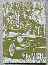 MG MGB TOURER & GT USA Car Driver's Handbook Nov 1971 #7938