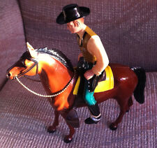 VINTAGE HARTLAND 1954 WYATT EARP AND HORSE FIGURES WITH HAT AND RIFLE