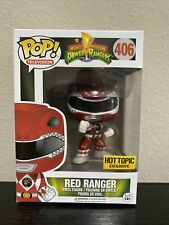 NEW RARE Funko Pop! Bandai Mighty Morphin Power Rangers Metallic Red Hot Topic