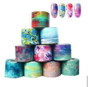 """CORAL BAY"" - transfer nail art foils set 10 pcs"