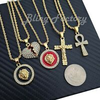 Hip Hop Iced Mini Fashion Hot selling 5 pendant Rapper's Collection Necklace Set