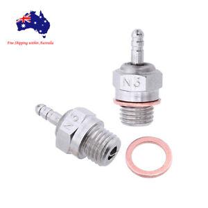 2 X  70117-3 HSP Glow Plug Hot No. 3 N3 #3 for 1/10 1/8 1/12 Nitro Engine RC