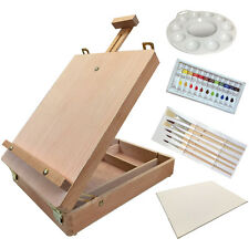 Acrylic Kit -(025) WOOD TABLE TOP SKETCH EASEL PAINTING ARTIST BOX SET
