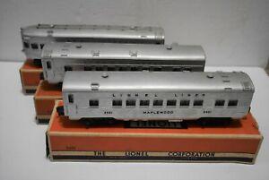 (3) Lionel Passenger Union Pacific Alcos Cars #2421,2422,2423-Boxes-Lighted jm12