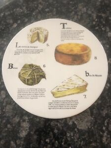 """Lovely Williams Sonoma 2012 Fromage Francais Cheese Platter 13"""" Porcelain! New!"""