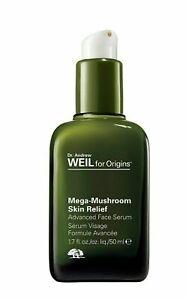 ORIGINS Mega-Mushroom Skin Relief FACE SERUM Anti-Aging Sensitive 1.7oz 50m NIB
