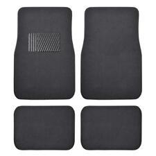 Charcoal Carpet Car Floor Mats - Set of 4 Driver Passenger and Utility Pads Grey