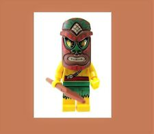 LEGO Series 11 Sealed Tiki Warrior Tropical Native Islander Witch Doctor Mask