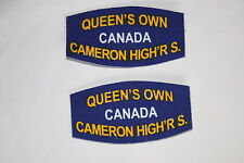 CANADA CANADIAN WW2 STYLE PRINTED TITLE PAIR QUEEN'S OWN CAMERON HIGHLANDERS