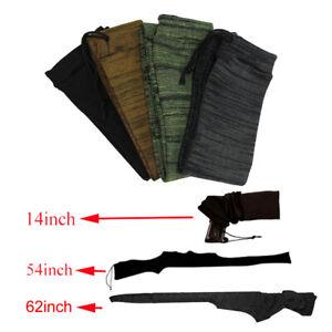 Gun Sock Rifle Shotgun Storage Pistol Handgun Sleeve Socks 14in / 54in / 62in