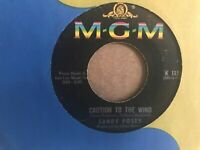 "SANDY   POSEY   7""  SINGLE ,  BORN   A  WOMAN  /  CAUTION   TO  THE  WIND"