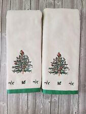 Spode Christmas Tree Cloth Hand Towel Set of 2