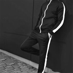 2 Piece Men Zipper Tracksuit Sport Casual Jacket Sweatsuit Set Pants Sweatshirts