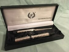 Vintage LABAN Platinum plated ballpoint pen letter opener set with original box