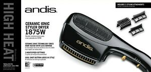Andis Ceramic Ionic Styler Dryer 1875 Watts with Combs #AN-30120