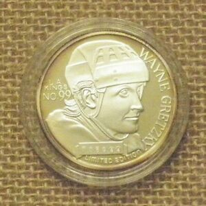 WAYNE GRETZKY L.A. KINGS .999 SILVER COIN 1999 NHL SCORING LEADER ROUND 1/18511