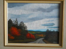 "Claude Picher Oil on Canvas ""ROUTE D' AUTOMN""  (1927-1998) ARCA Canadian Quebec"