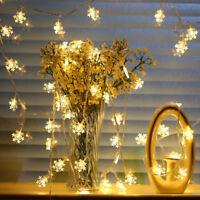 20LED 3M String Fairy Lights Snowflake Xmas Tree Christmas Party Home Decor FH