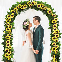 4Pcs Artificial Sunflower Garland Silk Flower 7.2 FT with10 Flowers Wedding Deco