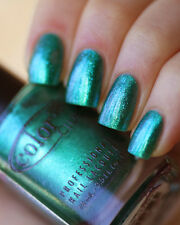 > Color Club METAMORPHOSIS Green Teal Metallic Duochrome Nail Polish Lacquer 961