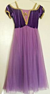 BALLET DRESS JULIET LYRICAL MA Cadbury purple stretch velvet Wolff Fording
