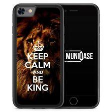 IPhone 8 GUSCIO IN SILICONE-Keep Calm and be KING LEONE LION-soggetto verdetto di design