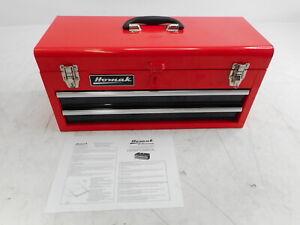 Homak RD01022001 - 20-Inch 2-Drawer Ball-Bearing Toolbox, Red