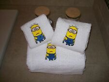 Embroidered Personalized Minion -3 Piece Embroidered Towel Set