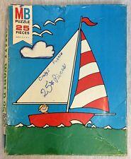 Vintage Mb Milton Bradley Puzzle 25 Big Pieces Boat
