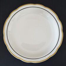 "Retro Diner Buffalo China USA Dinner Plate White Yellow Black Trim Scalloped 9"""