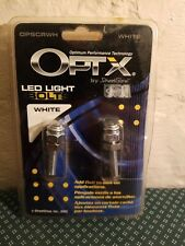 New listing Opt X by Street Glow Opscrwh White Led Light Bolts for License Plates Usa Made