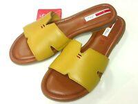 s.Oliver Damen Schuhe Pantolette Bequem Sandale Sandalette 27114 gelb Leder