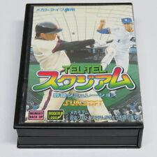 Tel Tel estadio de béisbol Sega Mega Drive Japón Japonés Sunsoft Caja * casi perfecto