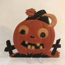 Vintage German Halloween JOL Embossed Miniature Die-cuts with Easel