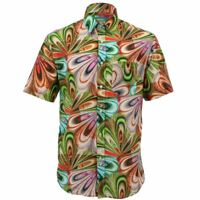 Mens Loud Shirt Retro Psychedelic Funky Party REGULAR Short Sleeve 70s
