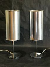 Retired - Crate & Barrel CB2 Modern Cylinder Luminaire Lamps (2) Work Great!!!