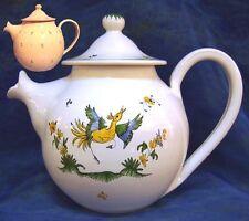 Théière en FAIENCE DE MOUSTIERS cafetière céramique peint main CERAMIC  tea-pot
