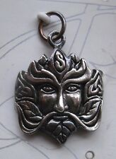 Sterling Silver Greenman Face Pendant by Peter Stone -pagan,witch,celtic,wicca