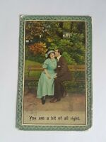 Greeting Postcard Vintage Couple Love