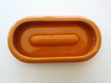 MID CENTURY DANISH MODERN ATOMIC ORANGE POTTERY ASHTRAY BOWL  ITALY   ART DECO