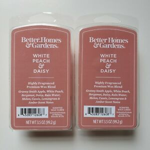 Lot of 2 Packs Better Homes And Gardens White Peach & Daisy Wax Cube Melts 3.5oz