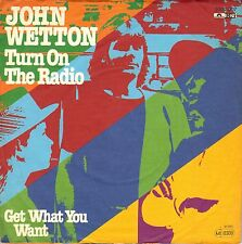 "7"" John Wetton (Asia / King Crimson) – Turn On The Radio // Germany 1980"
