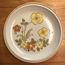 """Vtg Hearthside Garden Festival Sunshine Flowers Stoneware Plate 10 1/2"""""""