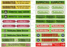 SUBBUTEO 20 STICKERS  with 12 DIFFERENT LOGOS for FENCE