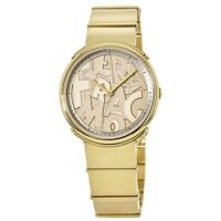New Salvatore Ferragamo Logomania Gold Tone Women's Watch FFY050017