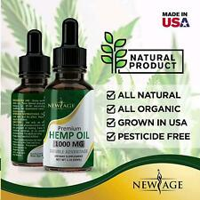 New Age 1000mg Organic Hemp Oil for Pain Relief Anxiety Reduce Stress 2PCS
